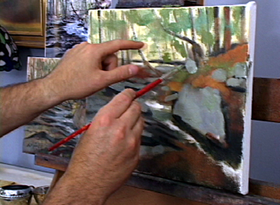 painting trees rocks video lesson