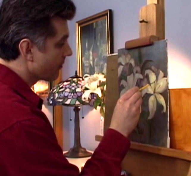 how to paint flowers dvd
