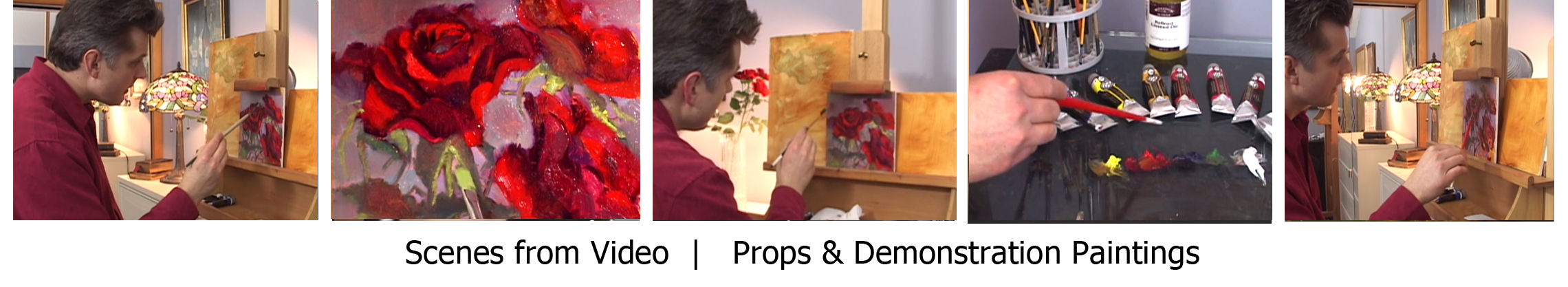 Roses Painting Video