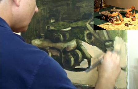 antique-roller-skates-Hall-Groat-II-painting-class-vid